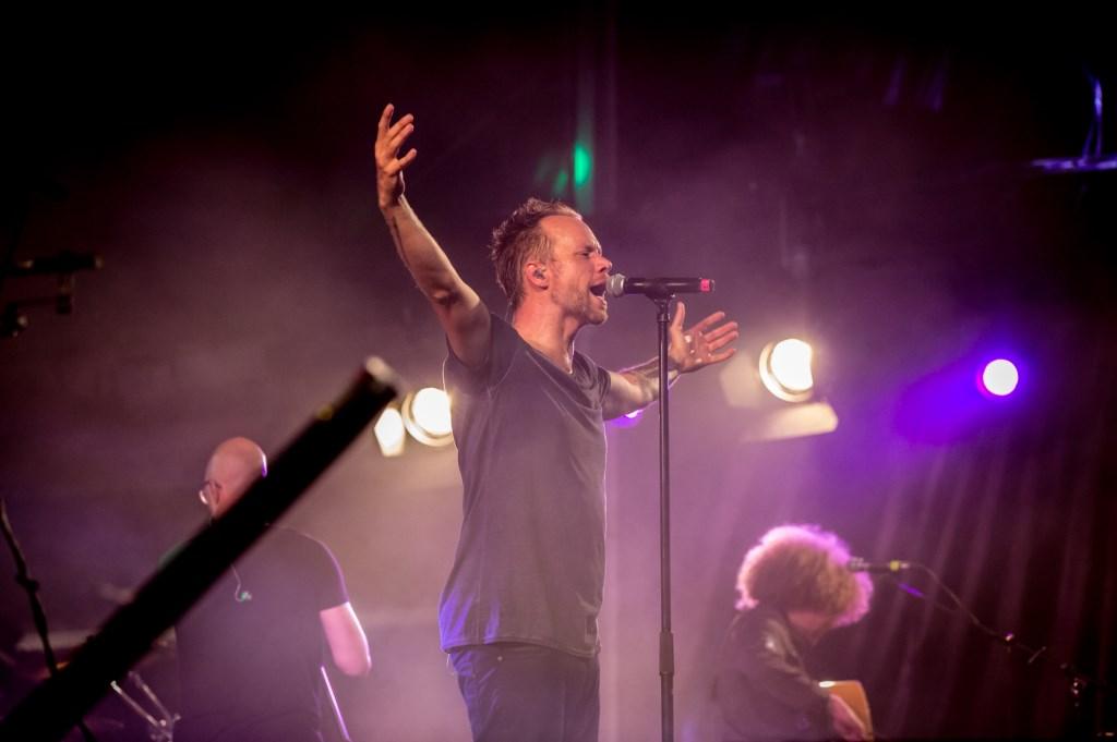Rapper Diggy Dex in actie. (Foto: Saskia Zeller)  © DPG Media