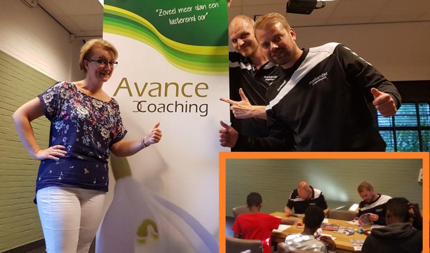 Marjolein van Avance Coaching, Arie en Vincent van Malkander en deelnemers van Project Kansrijk. (Foto's: Vincent Koelewijn en Marjolein vanWildt)