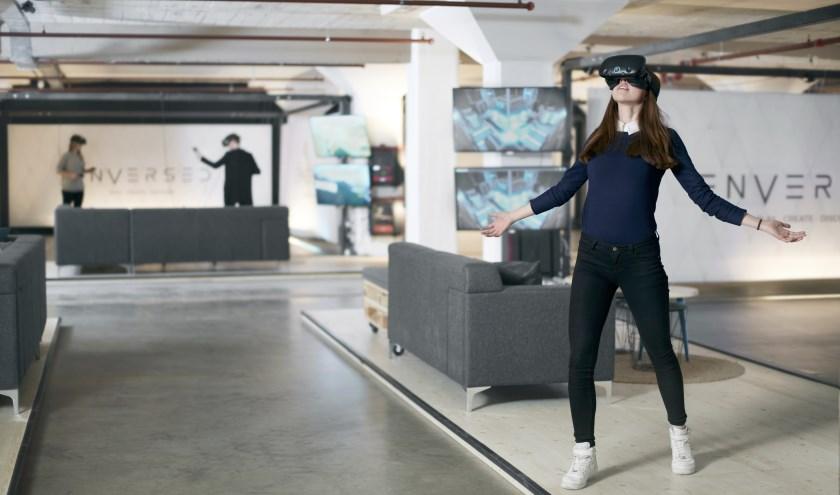 Studenten van Sint Lucas zien kansen in de toepassingen van virtual reality voor het bedrijfsleven.