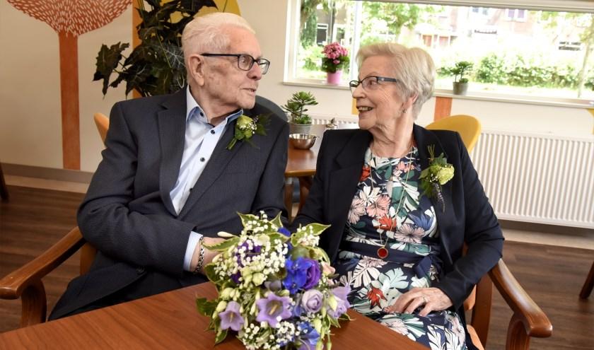 Tijs en Riet Klingenberg-Dekker vierden zondag hun briljanten huwelijk. Foto: Marianka Peters