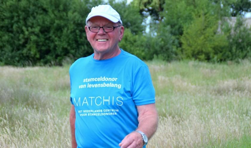 Voor het derde jaar loopt Leo Josemanders voor Stichting Matchis. (Foto: Cockie Kremers)