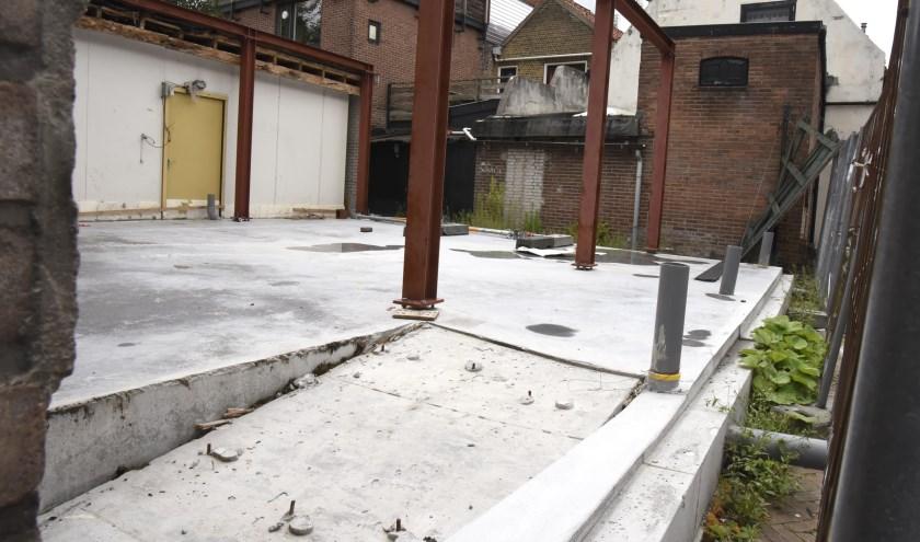 De  ODMH heeft de bouw van de huisjes op de Punselielocatie stilgelegd. Foto: Marianka Peters
