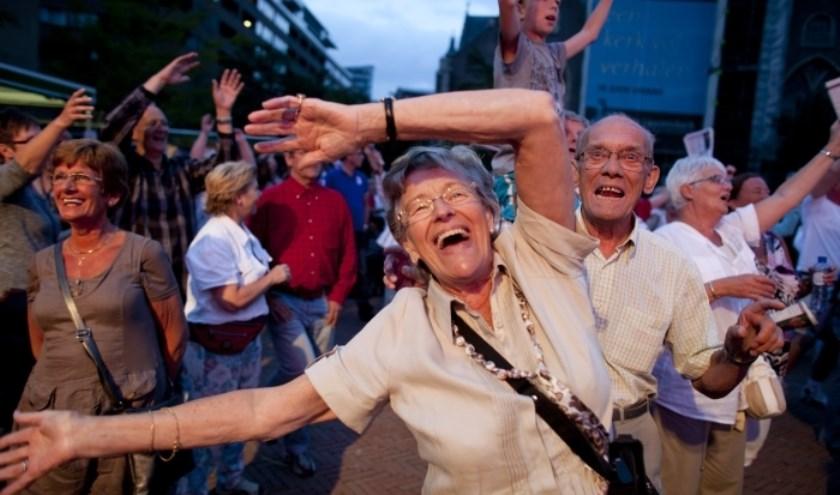 Zaterdag gaan we weer met z'n allen zingen op het Schouwburgplein.
