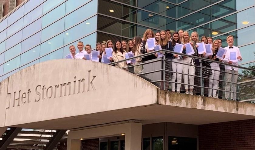 Leerlingen uit klas 3 van het tweetalig atheneum van Het Stormink