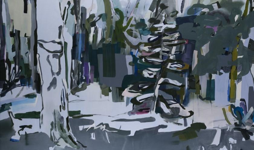 Liesbeth Piena, Minnewanka, 2018, oil on canvas