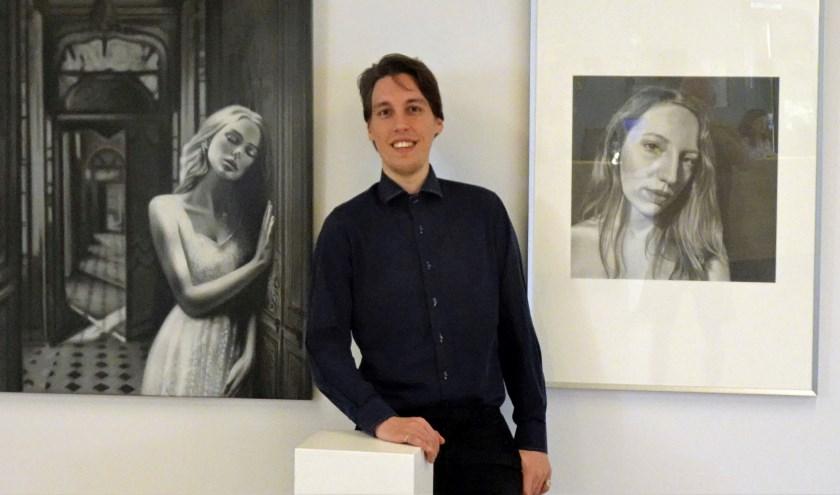Werk van Jasper Dielemans (22) uit Ruurlo is van 1 juli tot en met 30 september te zien in de hal van het gemeentehuis in Borculo.