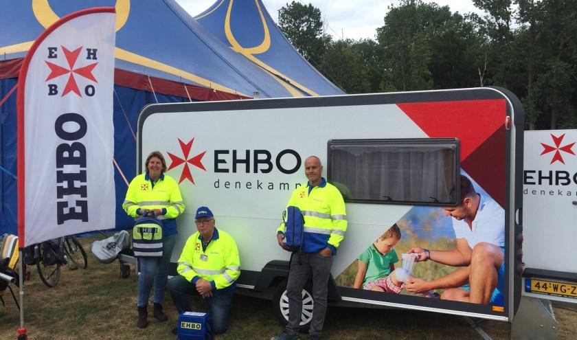De nieuwe caravan van EHBO Denekamp werd vorige week voor het eerst ingezet tijdens het Zomerfestival in Denekamp.