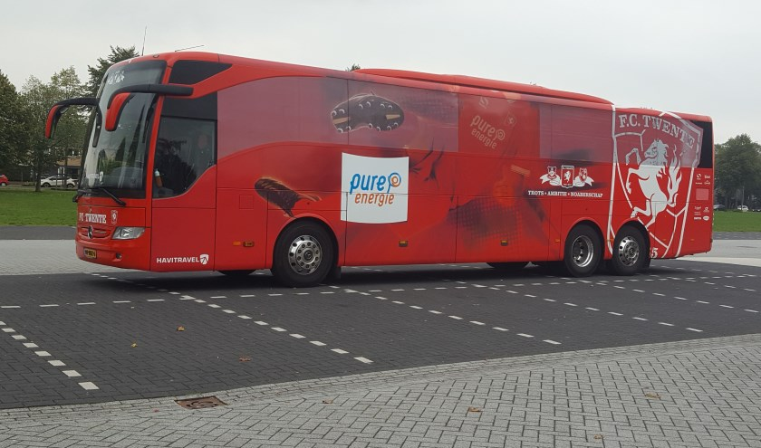 FC Twente bus. Foto: Agnes Bergevoet