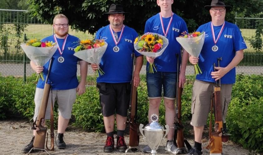De kampioenen: Twan van Uden, Jan van Daal, Erwin Coenen en Egbert Kempen. (eigen foto)