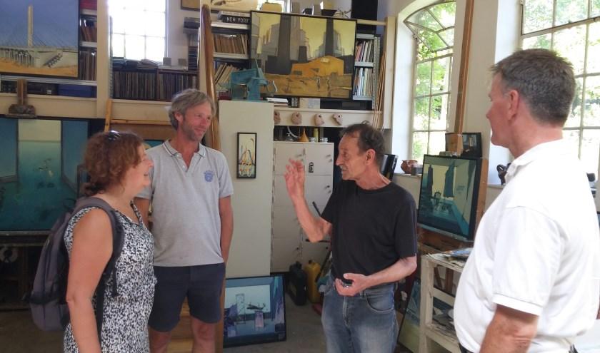 Robert Volmer is een van de deelnemende kunstenaars die je tijdens de Bommelse Kunstroute gastvrij ontvangen in hun ateliers.