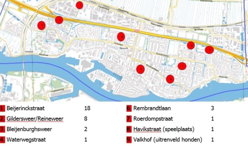 In het lijstje met straatnamen ontbreekt de Van Goghstraat. (Foto: pr)