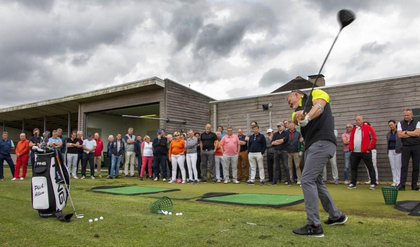 De coach van topgolfer Joost Luiten, Phil Alan, is te gast bij golfclub Old Course Loenen. Foto: Ruud Taal