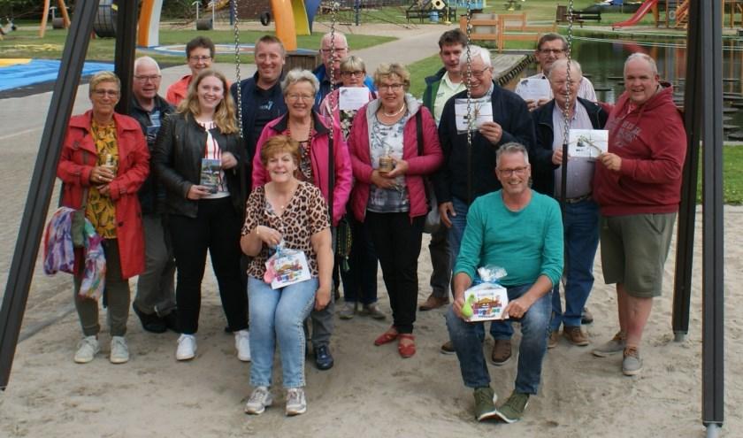 De winnaars van de Hemelvaartsfietstocht van Emst Onderneemt.
