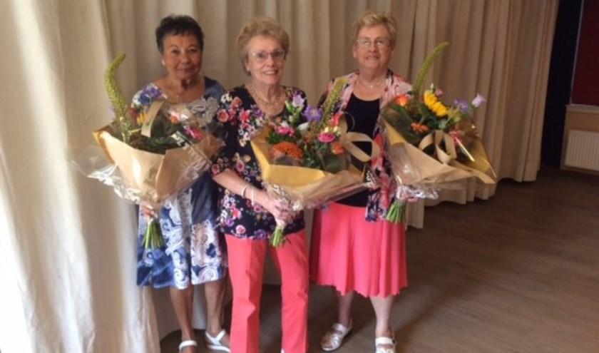 De drie dames werden tijdens de feestdag in het zonnetje gezet (Foto Facet)