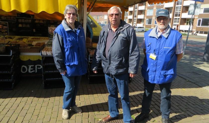Riny, Arie en Evert zijn elke woensdag present op de markt.