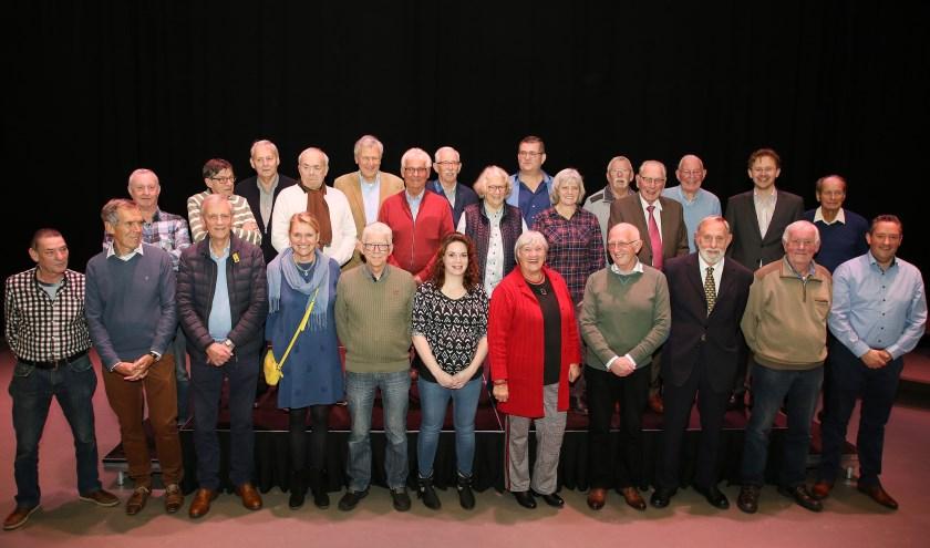 In 2018 kregen 30 vrijwilligers de vrijwilligerspenning uit handen van wethouder Alexander van Holstein. Foto: Theo van Sambeek.