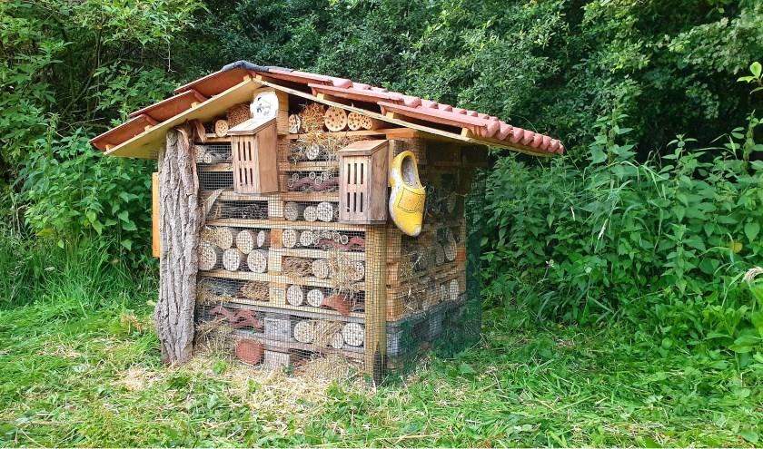 Het insectenhotel. (Foto: Privé)