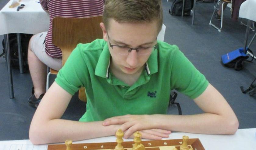 Rembrandt Bruil scoorde vijftig procent in de hoofdgroep van het Open NK (Foto: Ap Lammers)