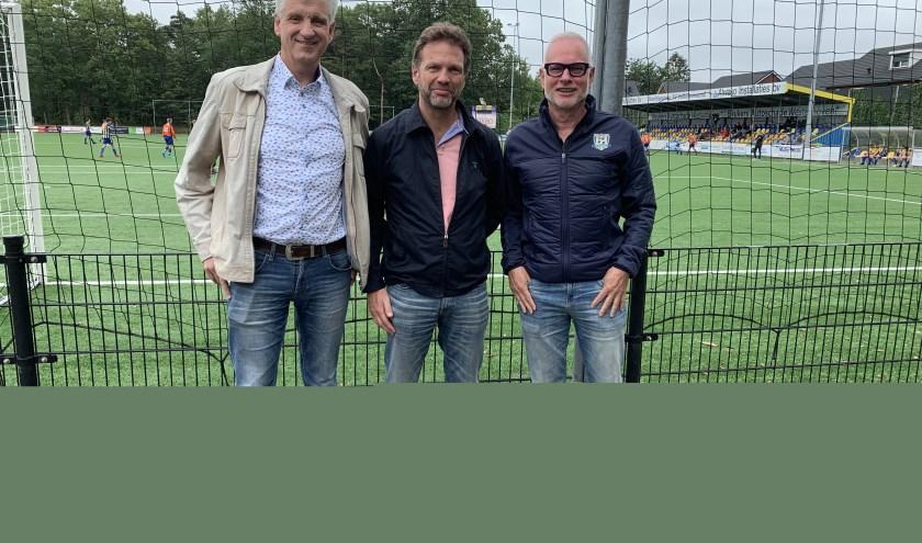 V.l.n.r. Gerard Daris (Dommelen), Martin Westerhuis (De Valk) en Jacques van Gerven (Valkenswaard). Foto: WéJé Producties