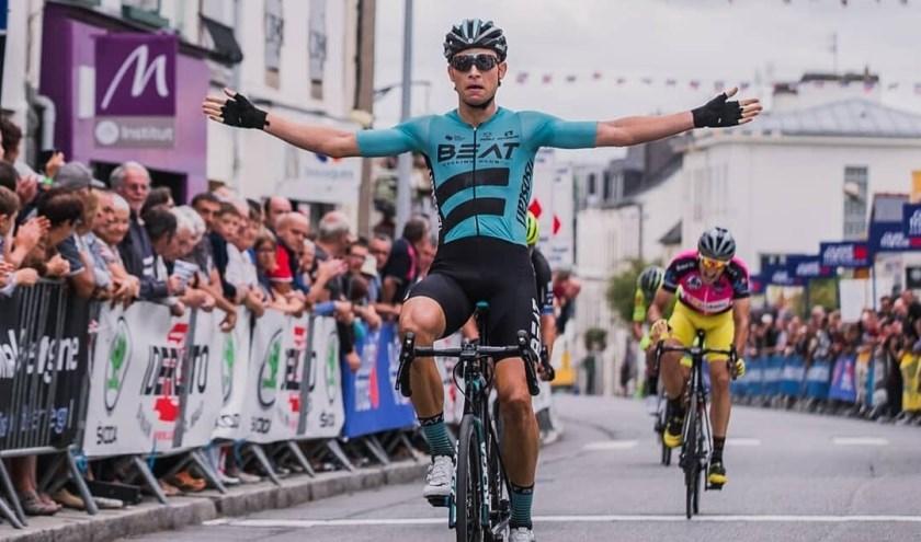 Veenendaler Martijn Budding rijdt in de Beat Cycling Club. Hij is aan een heel sterk seizoen bezig. Zal hij in de wielerkoers in Veenendaal zegevieren? (Foto: Beat)