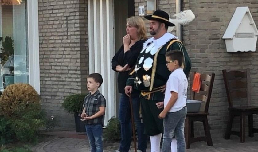 Coen Heijmans en zijn gezin.