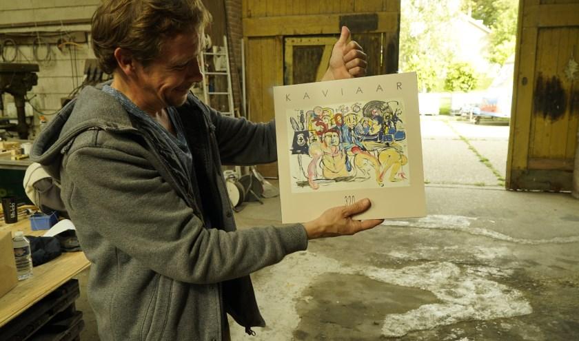 Michiel Romeyn (acteur en beeldend kunstenaar) is gevraagd de hoes te ontwerpen van de dubbel LP.