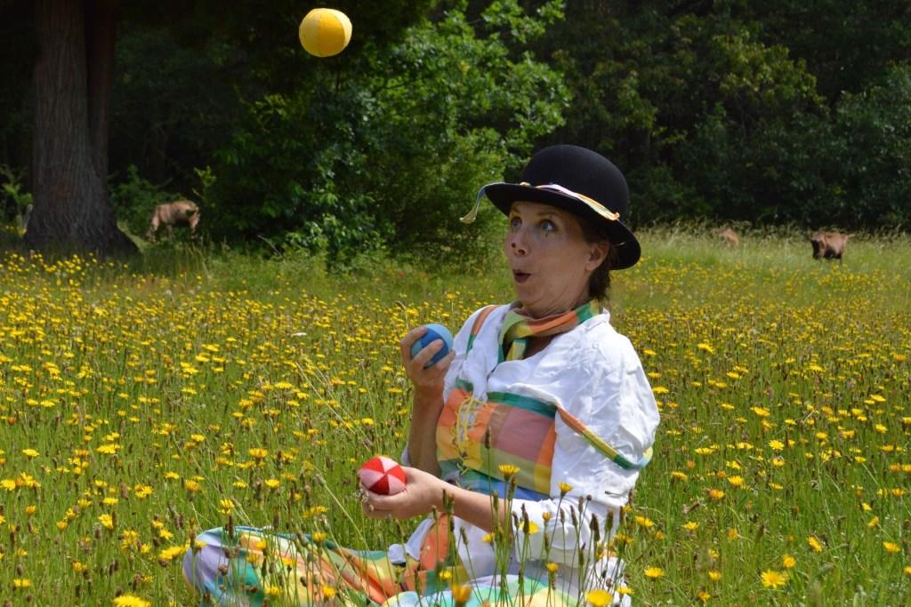 (Foto Manon): Poster Clowntje Polka is door mijzelf ontworpen.    © DPG Media