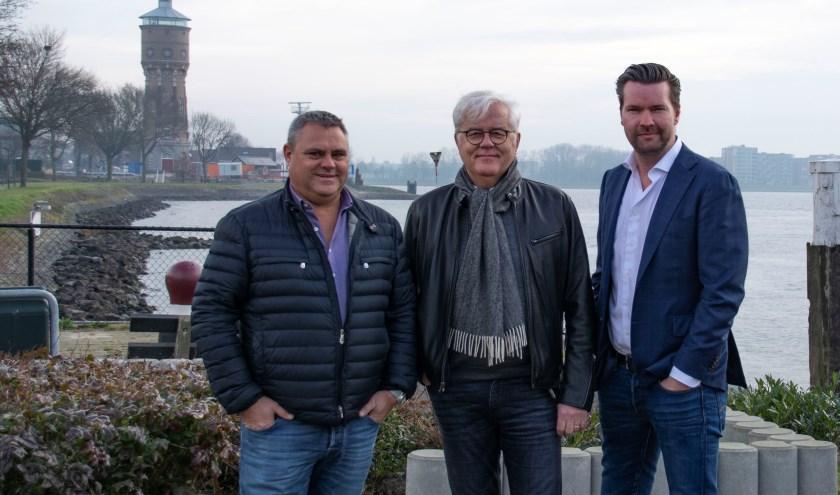 Jan van Laar, Rutger Hoogerwerf en Piet de Bruin, initiatiefnemers van de Binnenvaartdagen Zwijndrecht.