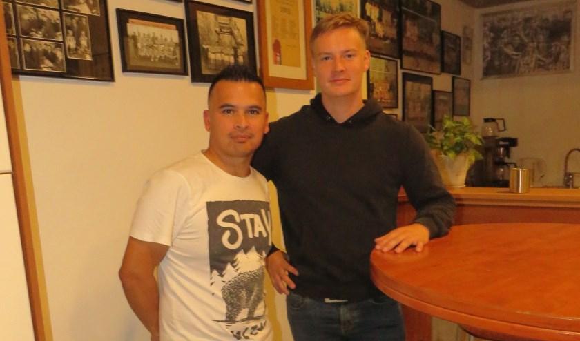 De nieuwe trainers Mickey van Boxtel en Werner van Rijswijk.