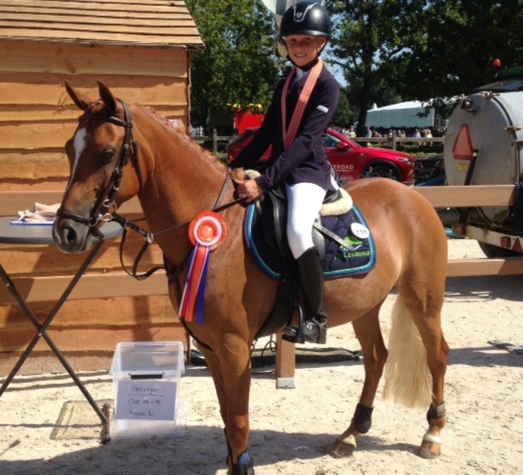 Mayke Leusink won zilver met Chico.  © DPG Media