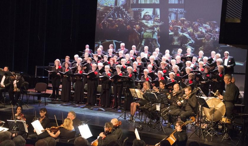 Het koor tijdens het Verdiconcert in 2017