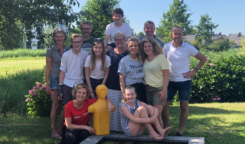 Het team Swim for Family & Friends. Eigen foto