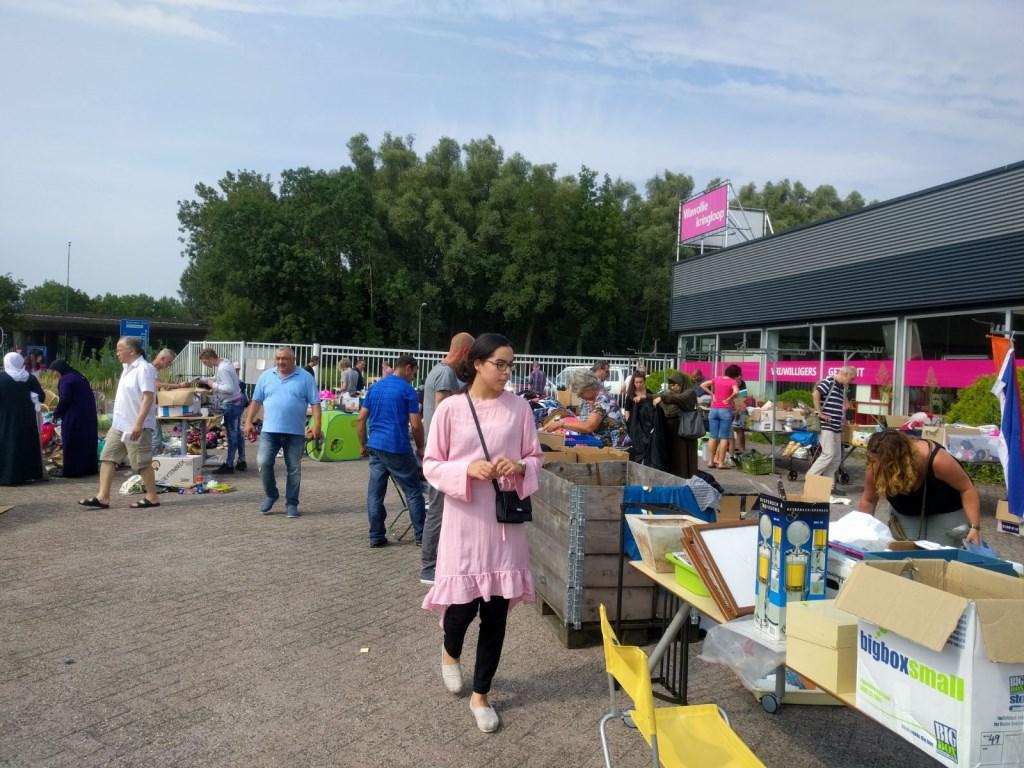 De grote buitenmarkt van Wawollie in 2017.  © DPG Media