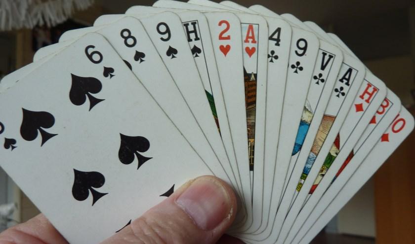 Iedere speler krijgt 13 kaarten