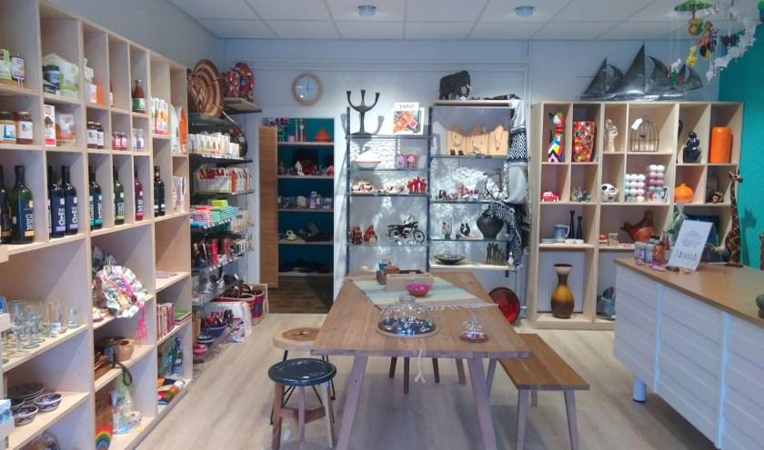 De Wereldwinkel aan de Grotestraat is een prettige, sfeervolle winkel met prachtige fairtradeproducten.