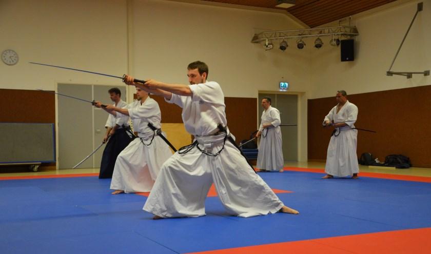 Iaido training in Merwestein. Foto: Takeda Ryu Nederland