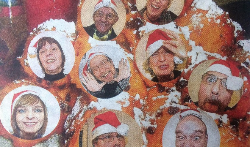Het team van de Delftse Post rond 2007. Henk staat bovenin links.