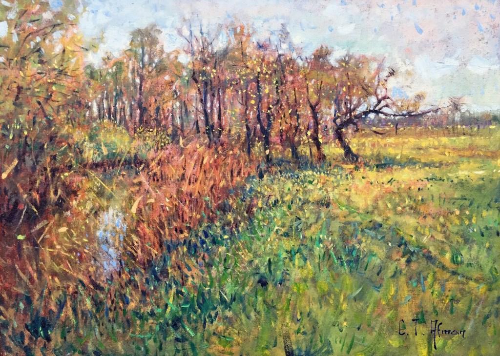 Christiaan Alfman schildert landschappen waarin de waardering voor de traditionele schilderkunst merkbaar is. Foto: Galerie Tolg'Art © DPG Media