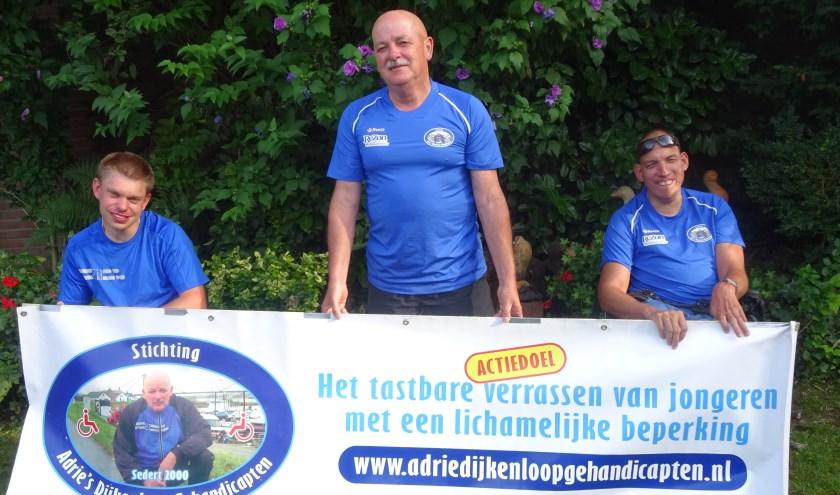 Adrie Kooijmans en z'n runningmates Sander Zondag en Erik van der Eijk.