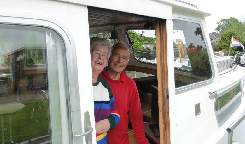 Maria en Henk Verkerk hebben het naar hun zin in Montfoort. (Foto: Leo Polhuys)