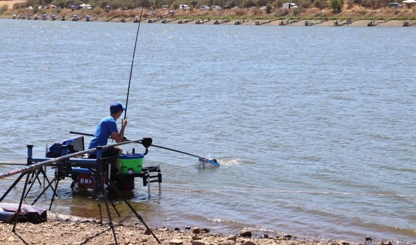 Roy Vaanholt, deelnemer aan het wereldkampioenschap jeugdvissen in Spanje