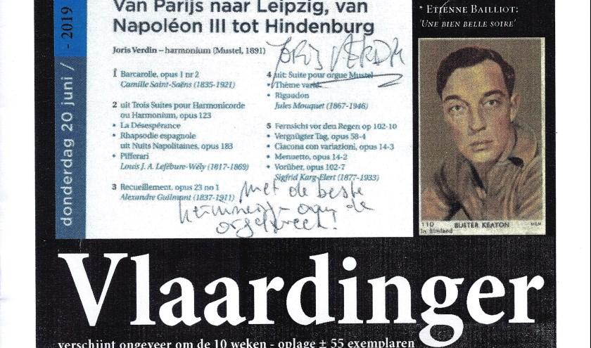 De voorpagina van de ZwartWitte Vlaardinger.