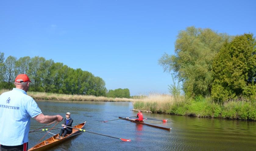 Kom zaterdag 10 augustus naar de open dag bij Roeivereniging Breda en maak kennis met de roeisport (foto: Marlies van Rosmalen)