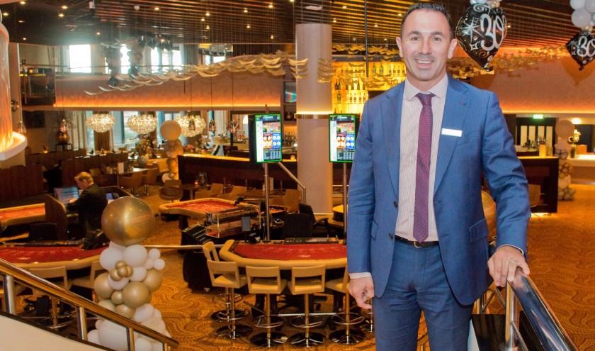 Arno Bongers is trots op alles wat 'zijn' casino voor de stad doet. (Foto: Maaike van Helmond)