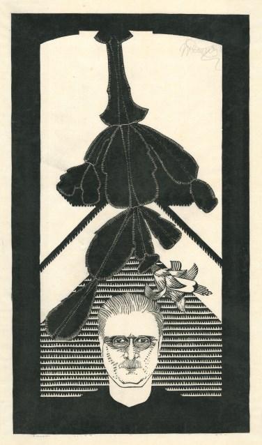 Afbeelding: Samuel Jessurun de Mesquita, zelfportret met cactus, 1926-1929, collectie Joods Historisch Museum