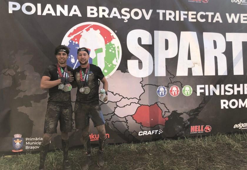 De Westervoortse vrienden en sportmaatjes Rob Schubert en Rutger van der Staak deden op 3 en 4 augustus mee aan het Poiana Brasov Trifecta Weekend in Roemenië.