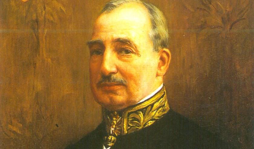 Portret van mr. A.E.J. baron Van Voorst tot Voorst Commissaris van de Koningin in Noord-Brabant. Dit olieverf schilderij van Piet Slager (1871-1938) hangt in de GS-kamer van het Provinciehuis in Noord-Brabant. De Commissaris is in 1928 op het doek vastgelegd.