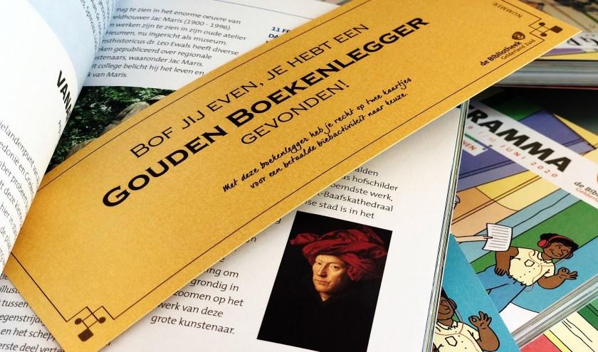 Vind een Gouden Boekenlegger in de programmaboekjes van de bieb