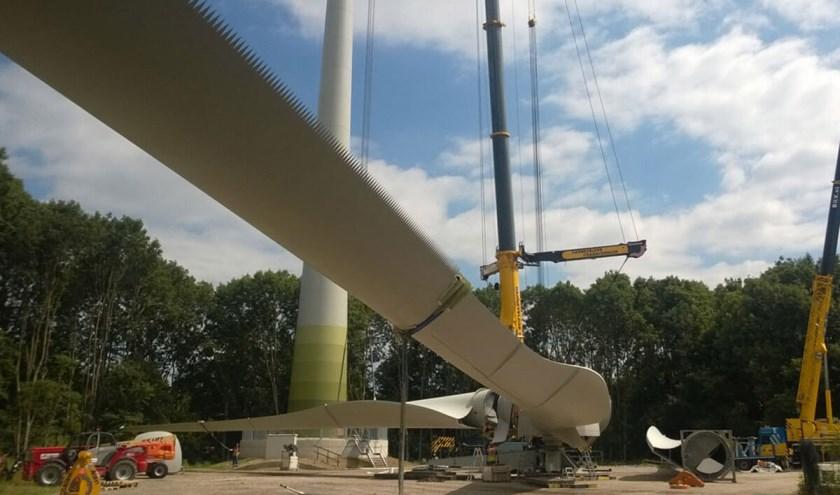 'Uilenveren' op de windturbines in Deventer (foto: DeventerEnergie).