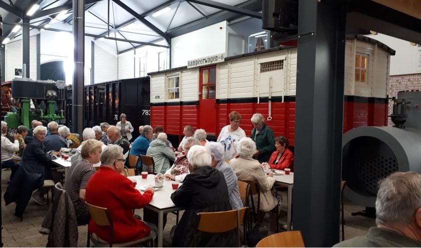 Ook het Trammuseum werd tijdens het uitje aangedaan (Foto: PR)